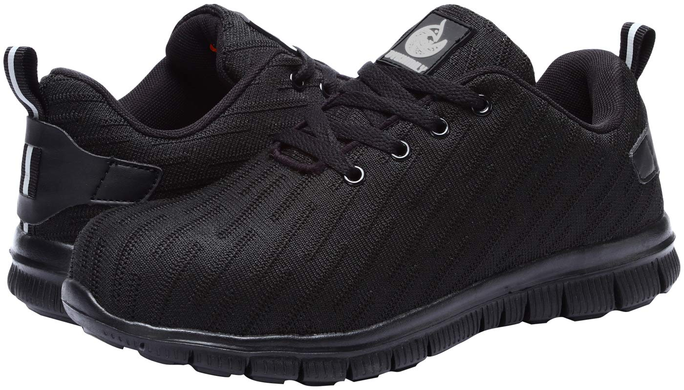 DYKHMILY Steel Toe Shoes for Women and Men Safety Shoes Slip Resistant Safety Toe Shoes Black