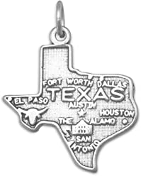Oxidized Sterling Silver Charms, All 50 States