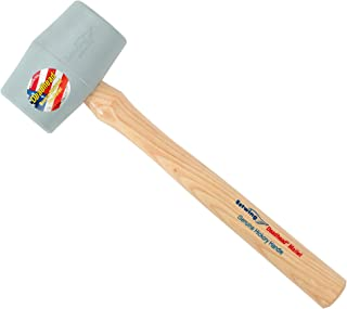 product image for Estwing Deadhead Rubber Mallet - 18 oz No-Mar Hammer with Bounce Resistant Head & Hickory Wood Handle - DH-18N