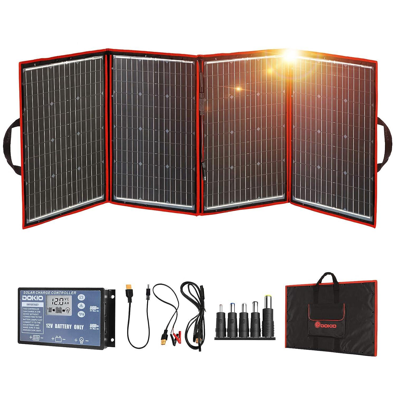 DOKIO 200W Foldable Solar Panel Kit Lightweight