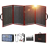 DOKIO 220w 18v Foldable Solar Panel Kit (Lightweight 9lb) Monocrystalline Solar Cell with Controller 2 USB Outputs to Charge
