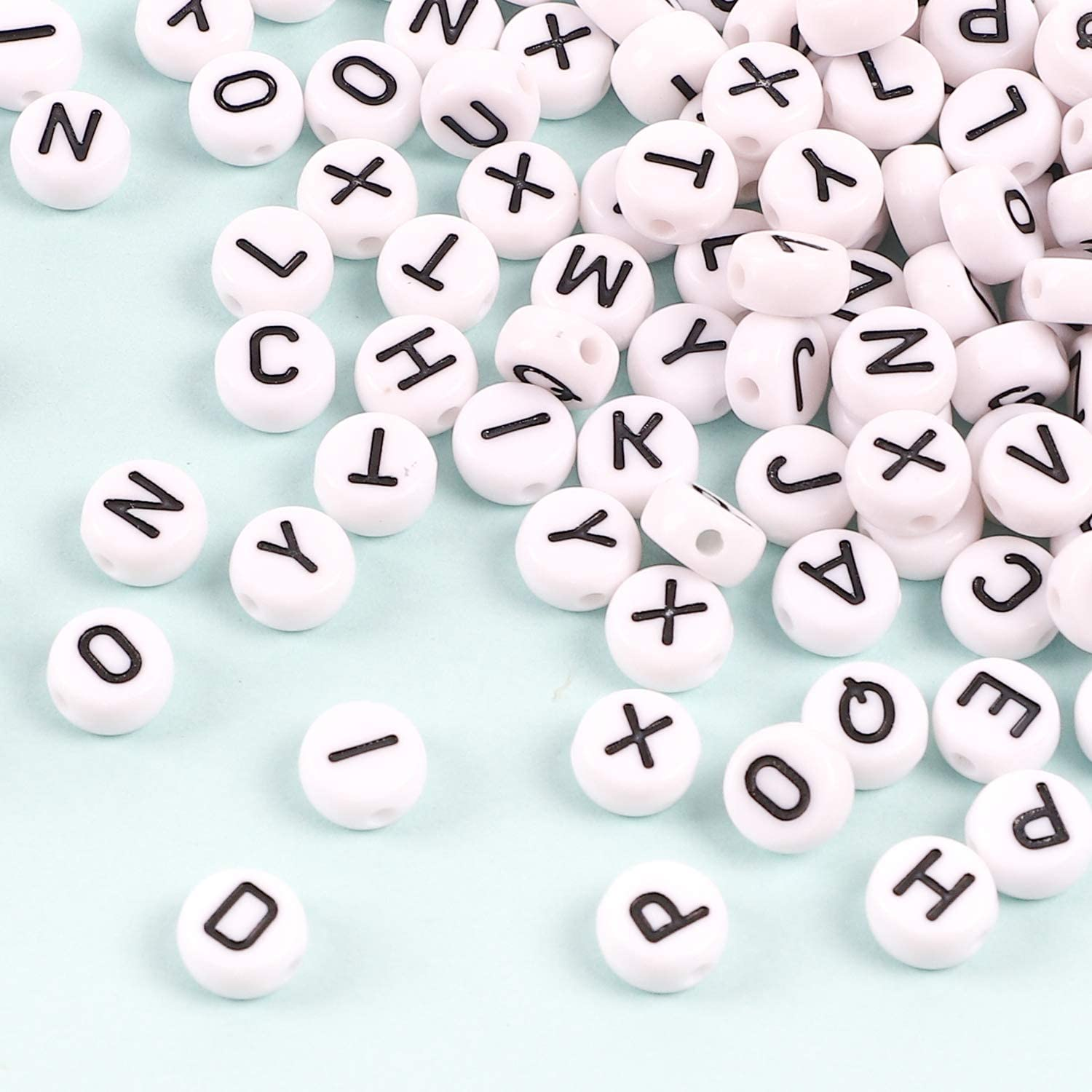 Jewelry Making and Crafts White Round Alphabet Beads for Name Bracelets 1300pcs Letter Beads UOONY 1800pcs Letter Bracelet Beads 500pcs Large Hole Beads Multi Color