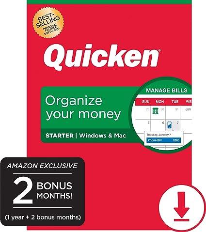 Quicken 2020 Review.Quicken Starter Personal Finance 14 Month Subscription Amazon Exclusive Pc Mac Online Code