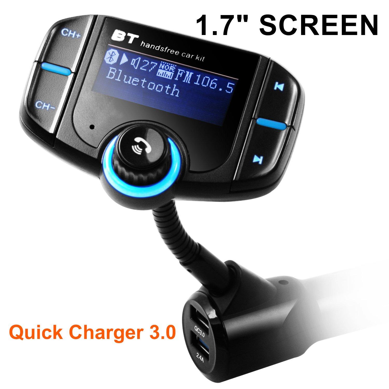 Motorola Sony Android Phone Arestech 4326596337 Samsung HTC LG Wireless Bluetooth Radio Transmitter Adapter with Hand-Free Calling Nexus In-Car Radio Adapter Car Kit for iPhone Bluetooth FM Transmitter for Car