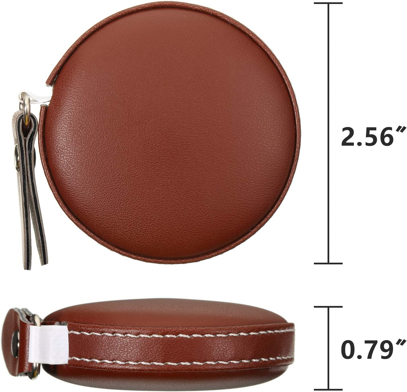 3 Pieces Body Measuring Tape Tape Measure Leather Retractable Tape Measure for Body or Weight Loss Accurate Sewing Tape Measure 60 Inch//1.5 M Round Brown