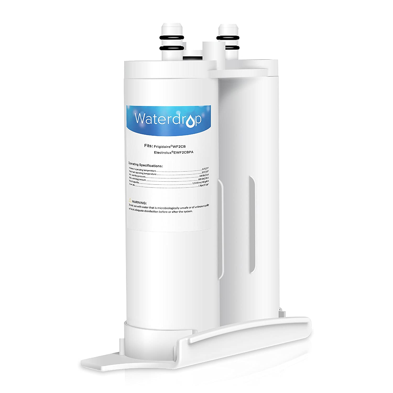 Waterdrop Refrigerator Water Filter, Compatible with WF2CB, NGFC2000, FC100, 9916, 469916, Pack of 1