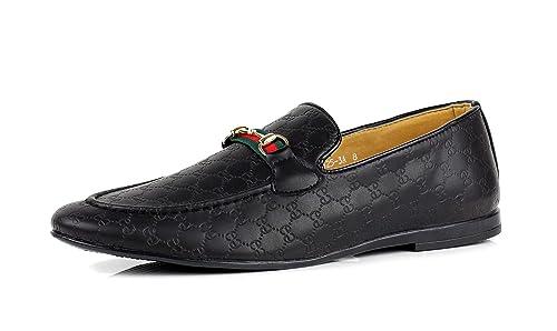 JAS Detalles Sobre Hombre Mocasines Informales Mocasines Italiano sin Cordones Zapatos Piel Sintética Tallas: Amazon.es: Zapatos y complementos