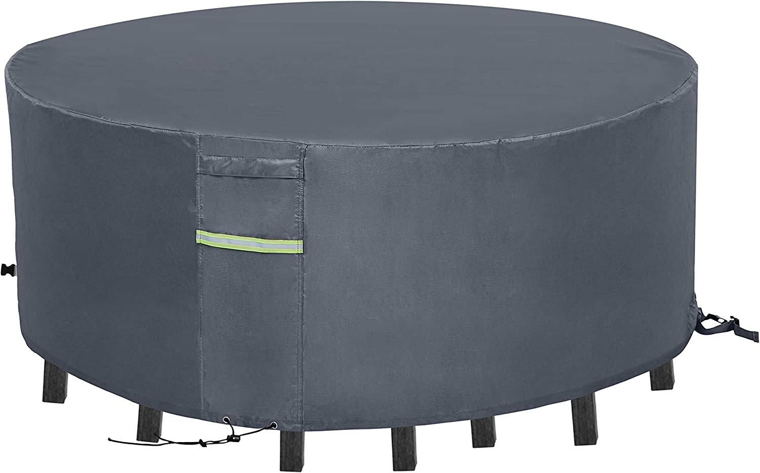 CHENHAO Patio Table Cover Round 39 inch Waterproof 600D Heavy Duty Outdoor Patio Furniture Cover Grey …