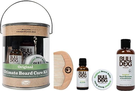 Bulldog Ultimate Kit de cuidado de la barba para hombre, set de regalo con bálsamo para barba, champú y acondicionador para barba, aceite para barba, peine y tijeras para barba.: Amazon.es: Salud