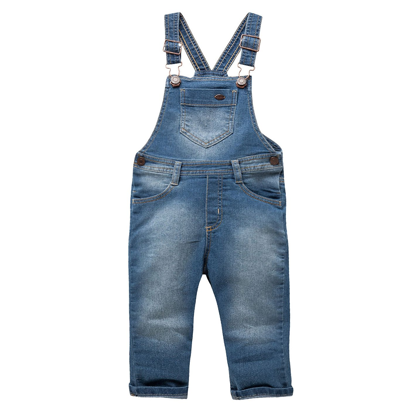 OFFCORSS Toddler Boy Bib Overalls for Kids Dungarees Overol Para Niños Blue 3T