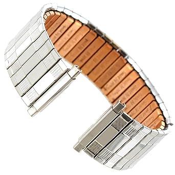 9ab27afbffec5 18-22mm Speidel Silver Tone Therapeutic Copper Back Twist-O-Flex Watch Band  161
