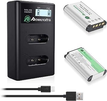 np-bx1 2 x 1090mah batteria caricabatteria per Sony Cyber-shot dsc-hx90//dsc-hx90v
