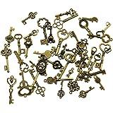 40 pezzi bronzo antico vintage scheletro chiavi charms fai da te kit per accessori fatti a mano collana pendenti monili che fanno