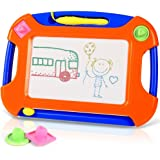TTMOW Magnetic Drawing Board Games Toy Magna Doodle Erasable Colorful Writing Sketching Pad For Kids Inspiration And Colors Gift for Girls Boy Kids Children Travel Size (Orange)