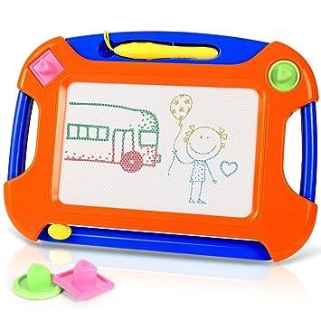 TTMOW Pizarras Mágicas Colorido con Pluma, Almohadilla Borrable de Escritura y Dibujo, Juguetes Educativos para 3 niños 4 años 5 años 6 años ...