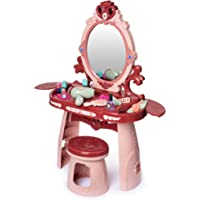 Hoovy Girls Vanity Table Toy to Pretend Makeup with Mirror Chair Set for Toddler Kids Little Girls Pink Makeup Kits Toys…