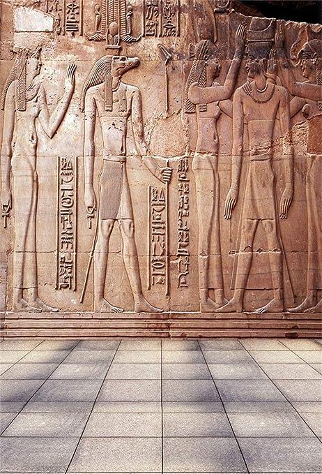 10x8ft Old Egypt Papyrus Backdrop Coloring Ancient Egyptian Parchment Vintage Wall Painting Antique Hieroglyphs Photography Background Cloth Vinyl Photo Studio Props