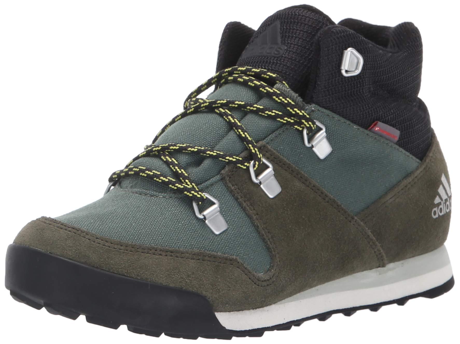 adidas outdoor Unisex CW Snowpitch K, Base Green/Night Cargo/ash Silver, 5 Youth US Big Kid