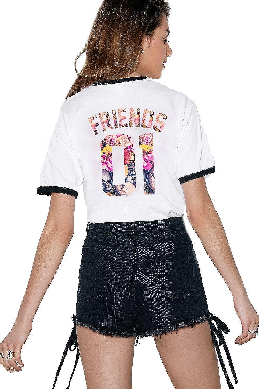 Sommer Oberteile Set f/ür Zwei Damen Beste Freunde Freundin BFF Geburtstagsgeschenk Best Friends T-Shirts f/ür 2 M/ädchen Sister Aufdruck