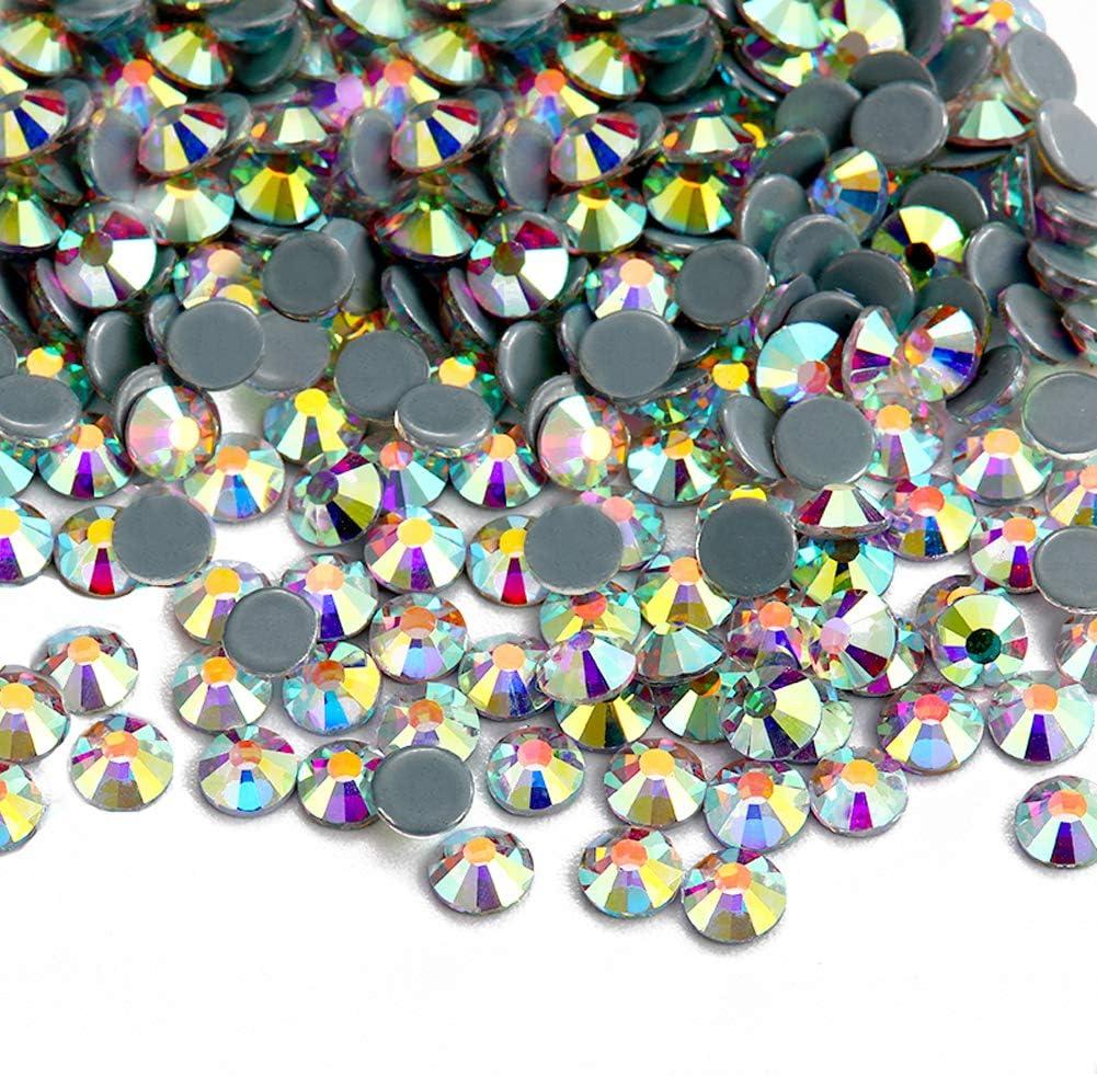 Facerain Flatback Hotfix Rhinestones Crystal AB Glass Stones SS3-SS40 1440pcs SS3
