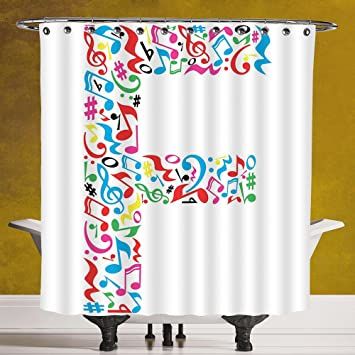 Amazon.com: Waterproof Shower Curtain 3.0 by SCOCICI [ Letter F ...