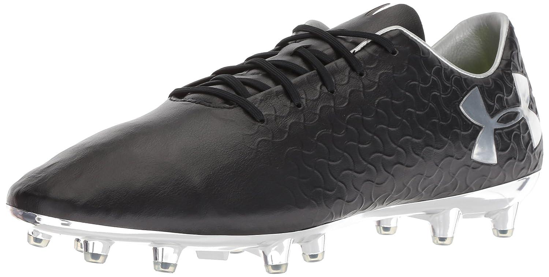 Under Armour Men's Magnetico Pro Frim Ground Soccer Shoe B076VL7Z12 9.5 M US|Black (001)/Metallic Silver