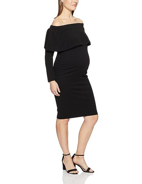 c4f28b3fe37d Ripe Maternity Women s Soiree Off Shoulder Dress LS  Amazon.com.au ...