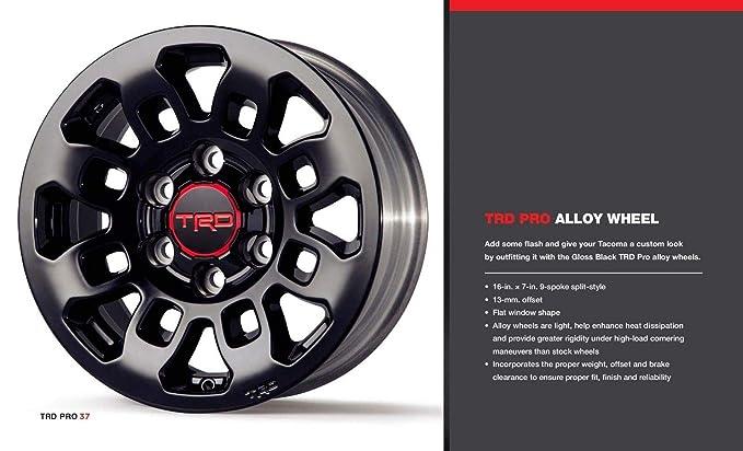 Amazon com: Tacoma TRD Pro 16-In  Alloy Wheel - Gloss Black