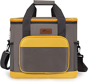 HOMESPON Cooler Bag Insulated Lunch Bag Cooler Lunch Container Thermal Cooler Pack Lunch Box Picnic Bag Cooler Tote Bag-20L,yellow