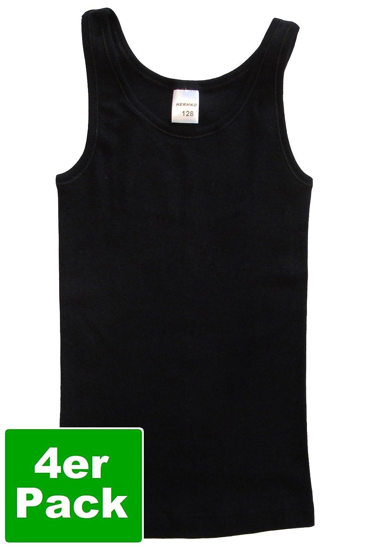 ded4a1bd75 HERMKO HERMKO 2000 4er Pack Mädchen Unterhemd aus 100% Bio-Baumwolle, Tank  Top Unterhemden: Amazon.de: Bekleidung