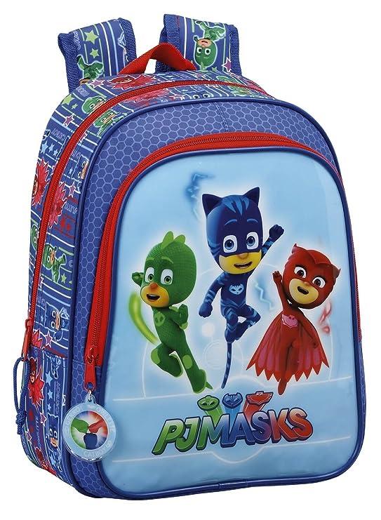 Safta Mochila Escolar Infantil Animada Pjmasks Oficial 270x100x330mm: Amazon.es: Equipaje