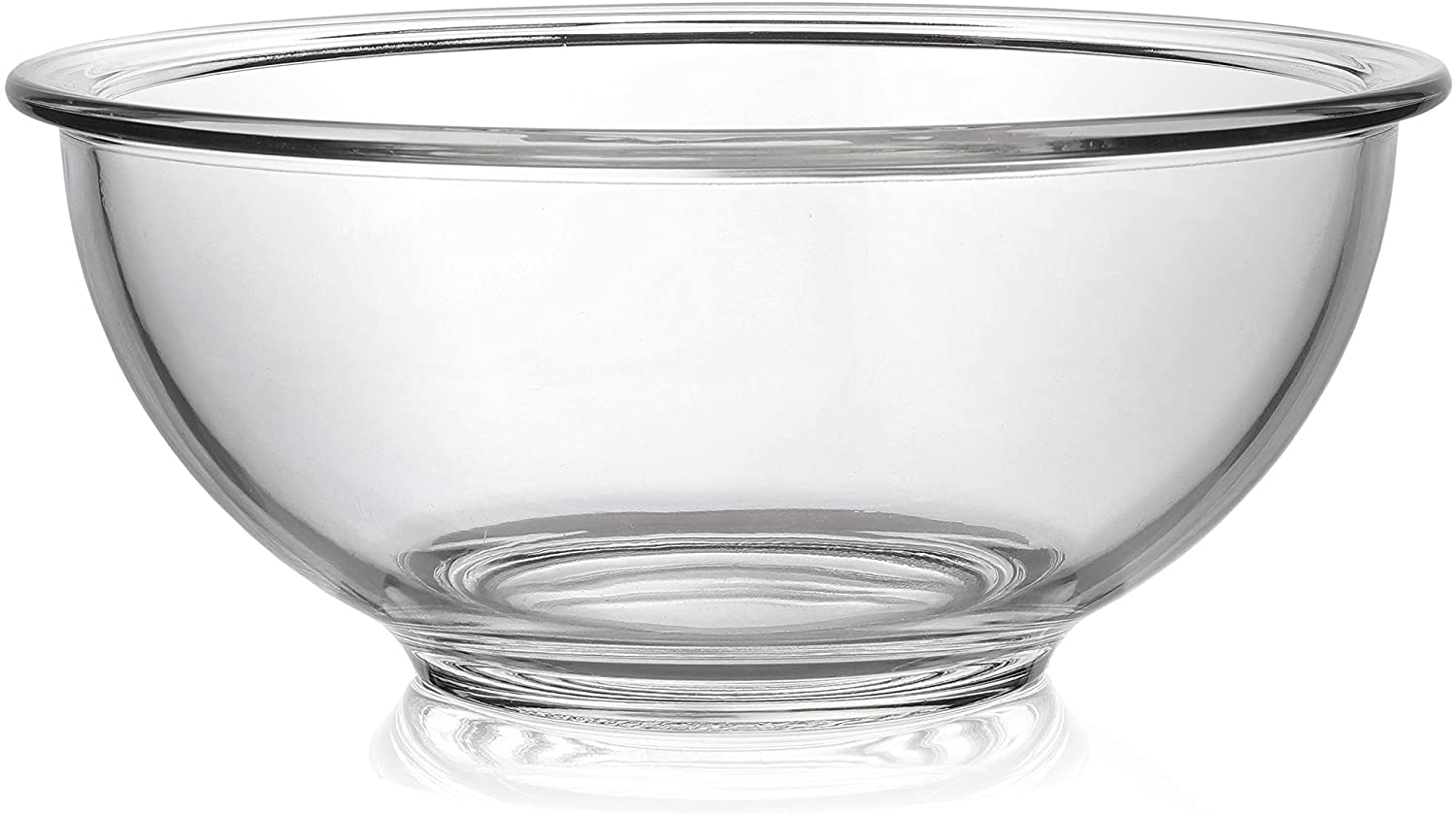 Bovado Glass Bowl for Storage, Mixing, Serving - Clear, Dishwasher, Freezer & Oven Safe Glass, Easy-Clean, 1.5 QT