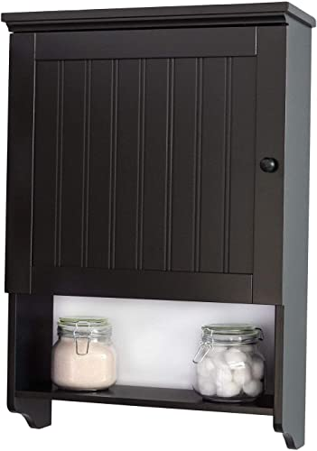 Wall Mount Bathroom Medicine Cabinet Storage Organizer Space Saver Espresso