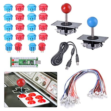 Free Shipping 1 Player Zero Delay Diy Pc Arcade Game Kits For Mame Jamma Games Joystick Push Button Wire Raspberry Pi Game Set A Great Variety Of Models Sports & Entertainment Entertainment