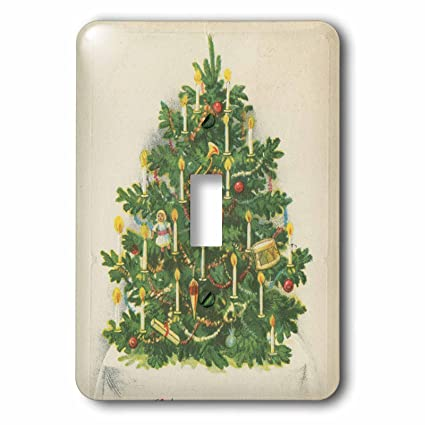 3drose tdswhite christmas holidays xmas vintage victorian christmas tree candles light switch covers