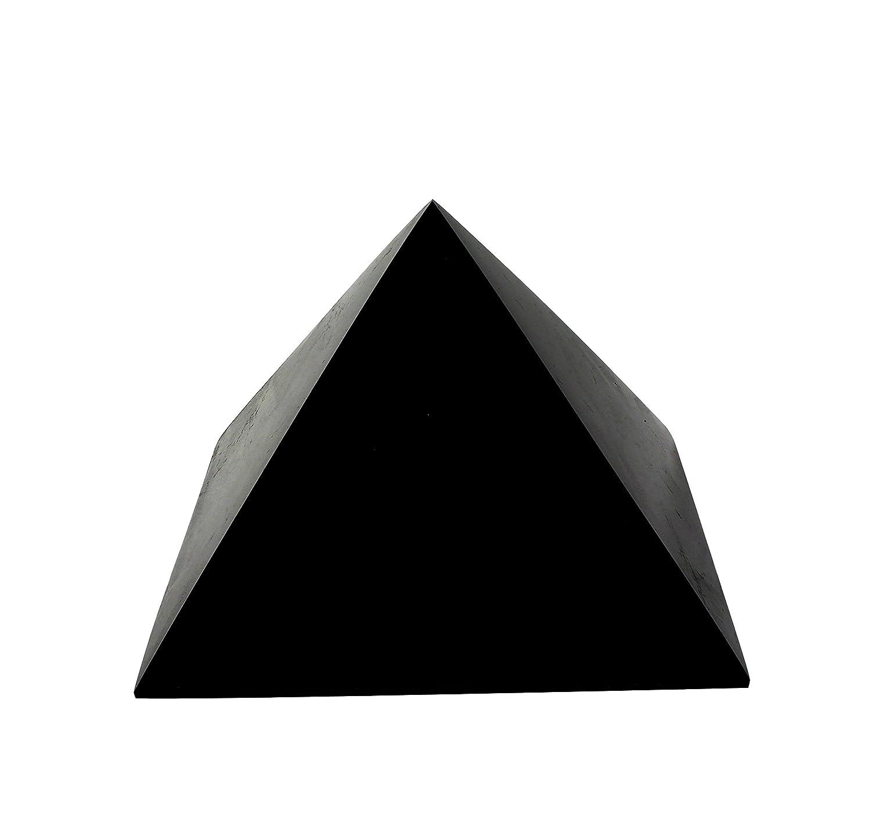 Schungit Pyramide Poliert 15cm  Garantierte authentische höchste Qualität russischer natürlicher Heilsteine aus Karelia - EMF Strahlungsschutz, Chakra Ausgleich, handgemachte Dekoration