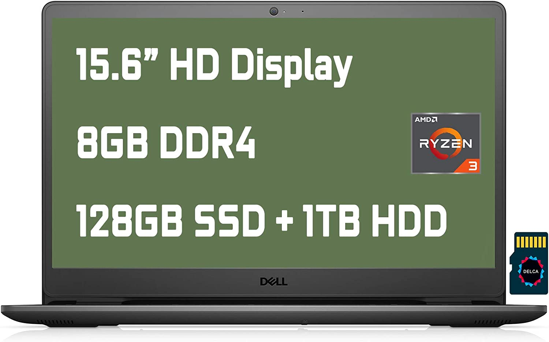 "2021 Dell Inspiron 15 3000 3505 Premium Laptop I 15.6"" HD Narrow Border Display I AMD Ryzen 3 3250U Processor I 8GB DDR4 128GB SSD + 1TB HDD I HDMI Wifi5 MaxxAudio Win10"