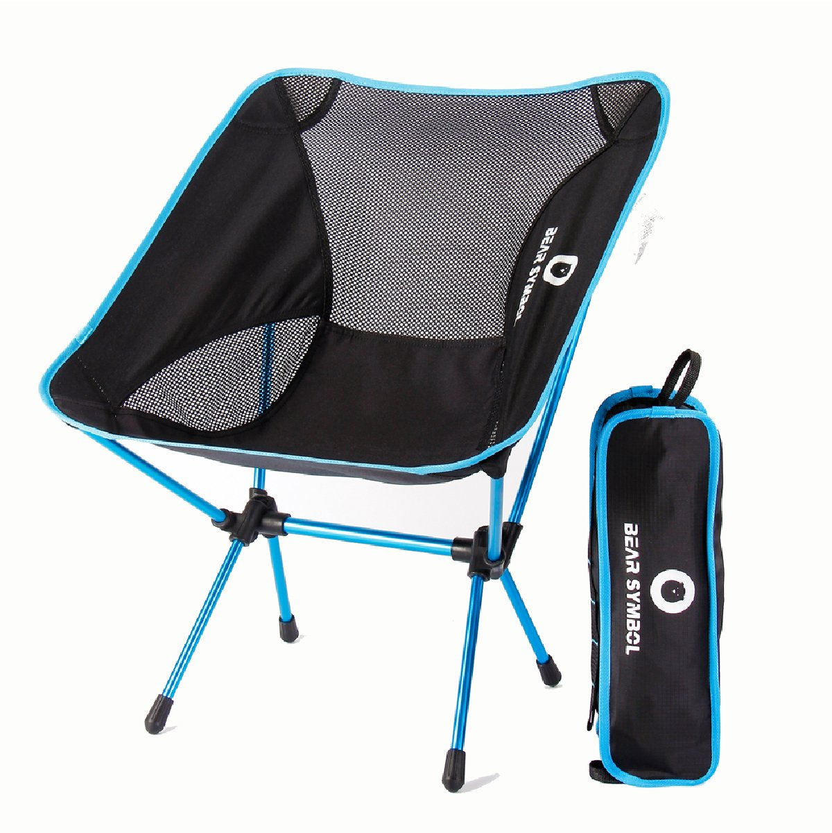 blueee TRIWONDER Folding Camping Chair Lightweight Portable Backpacking Camp Chairs Compact with Carry Bag for Camping, Beach, Backpacking, Hiking