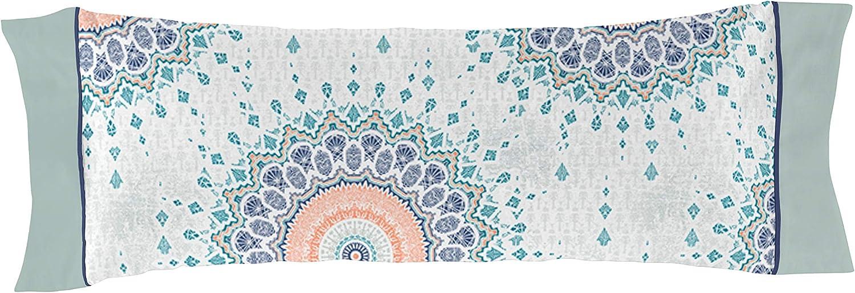 Aguamarina Funda DE Almohada Claude 220x220+45x155 cm Juego DE Funda N/ÓRDICA