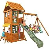 KidKraft Brooksville Cedar Wood Swing Set / Playset F24915
