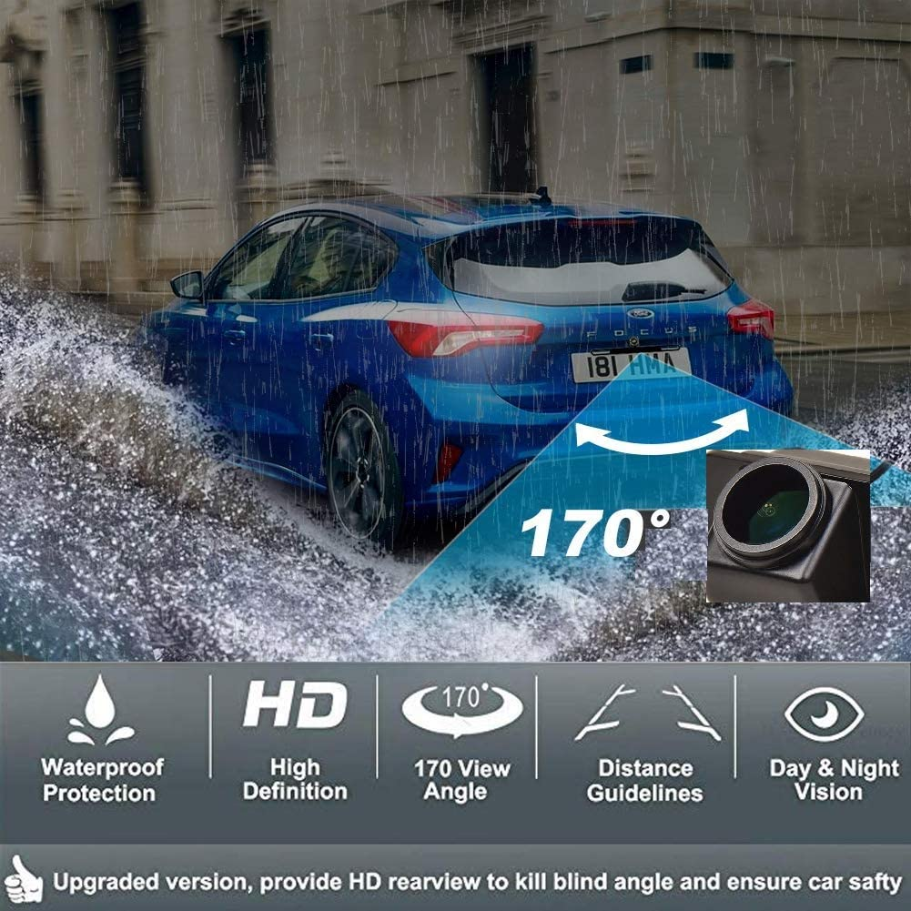 HD 1280x720p Rear Reversing Backup Camera Rearview Trunk Handle Camera Night Vision Ip68 Waterproof for Ford Focus SE//Ford Focus ST//Ford Focus 2//Ford Focus 3// Focus Turnier Mk3// Escort 11-14