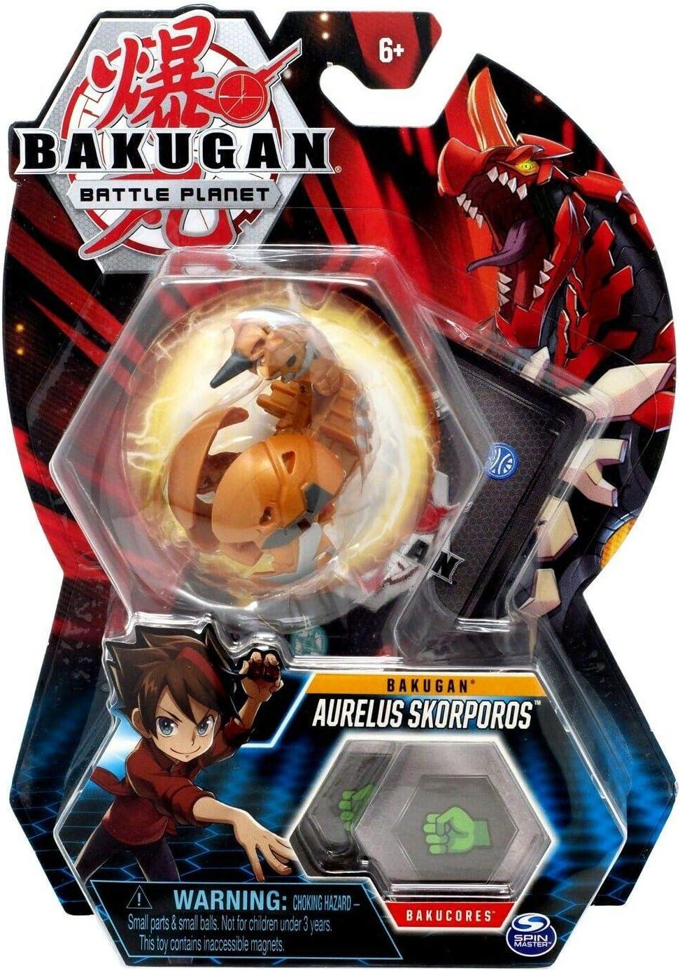 "Bakugan, Aurelus Skorporos, 2"" Tall Collectible Transforming Creature, for Ages 6 & Up"