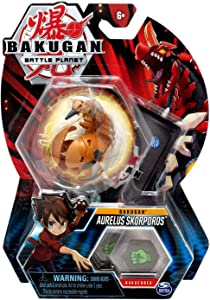 "Bakugan, Aurelus Skorporos, 2"" Tall Collectible Transforming Creature, for Ages 6 & Up"