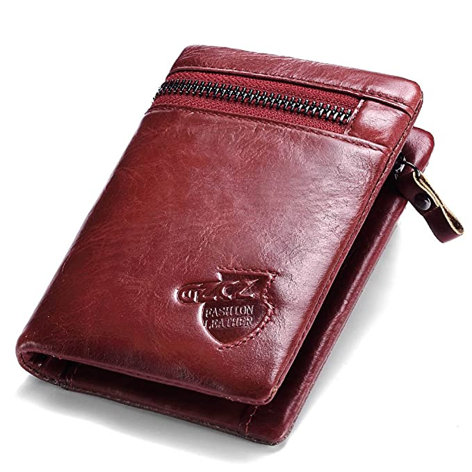 5771469fc256 Amazon.com: GZCZ Genuine Leather Women's Wallet Lady Clamp for Money ...
