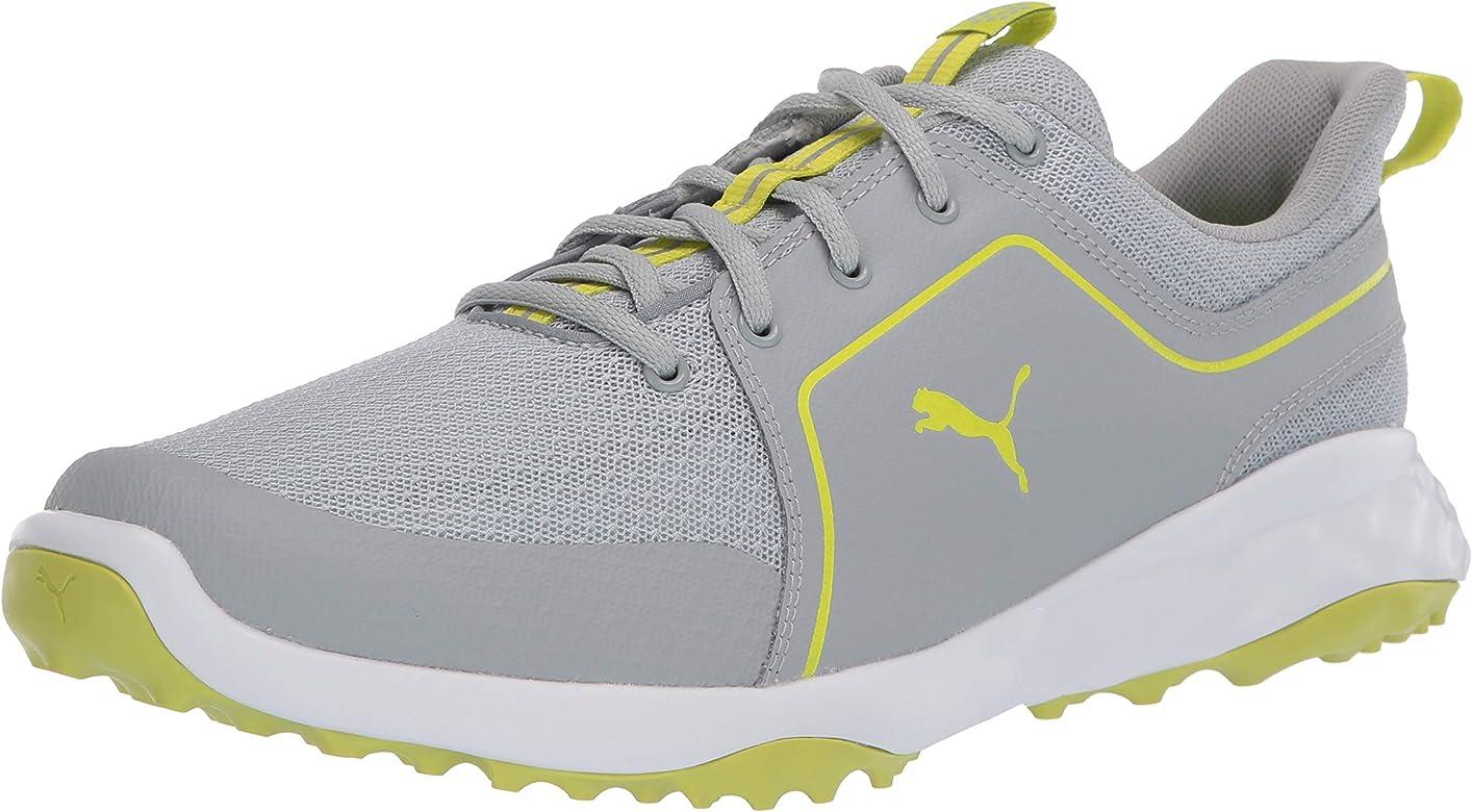 Amazon Com Puma Golf Men S Grip Fusion Sport 2 0 Golf Shoe High Rise Limepunch 7 M Us Golf