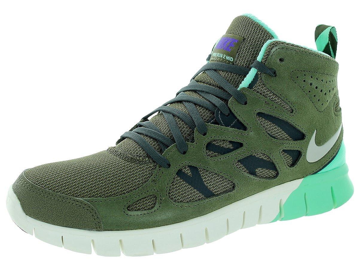 new styles 10410 9b285 Nike Free Run 2 Sneakerboot Schuhe medium olive-gyser grey-dark loden-green  glow - 44  Amazon.co.uk  Shoes   Bags