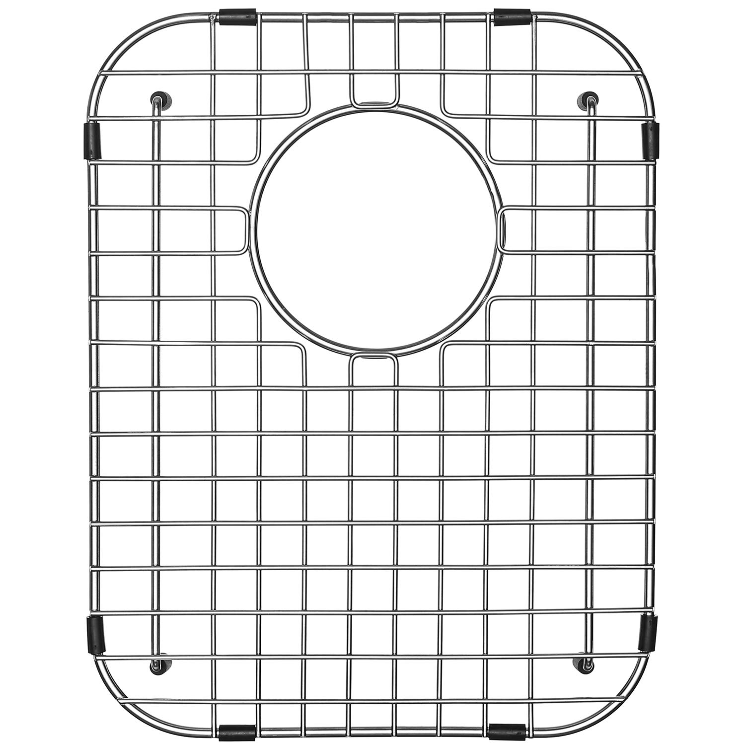 Serene Valley Sink Protector and Kitchen Sink Bottom Grid NDG1317, 304 Premium Stainless Steel, dim 11 7/8'' x 15 3/8'' by Serene Valley