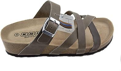 Sandalias de Verano para Mujer, Piel Sprinter Color Gris, con ...