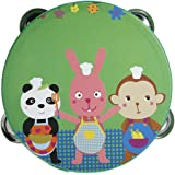 KINGSO Cartoon Handbell Tambourine Clap Drum Colorful Kids Toy by King So