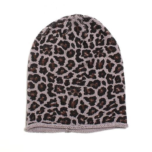 f928f8eb04b Amazon.com  D Y Women s Leopard Animal Print Slouchy Beanie